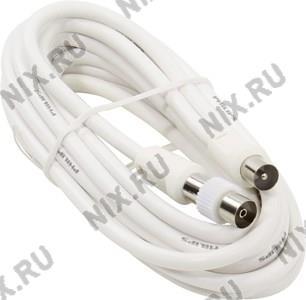Philips <SWV2205W> Кабель антенный 9.5 M-M, 75Ом,  4м  +  адаптер F-F
