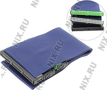 IDE cable 80жил UDMA66 (  3  connectors  ) 25-45см