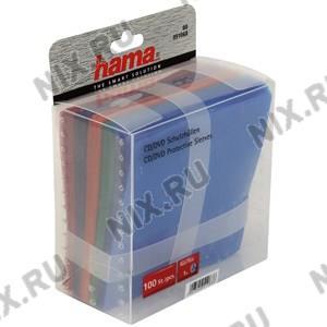 Конверты Hama <51068> для CD/DVD на 1 диск, 5 цветов,  полипропиленовые,  уп.  100 шт