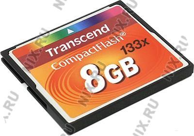 Transcend <TS8GCF133>  CompactFlash  Card  8Gb 133x