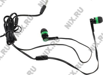 Наушники с микрофоном Defender Pulse-420  Green  (шнур  1.2м) <63422>