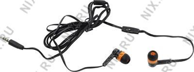 Наушники с микрофоном Defender Pulse-420  Orange  (шнур 1.2м) <63420>