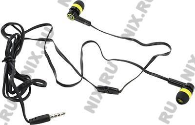 Наушники с микрофоном Defender Pulse-420 Yellow (шнур  1.2м)  <63421>