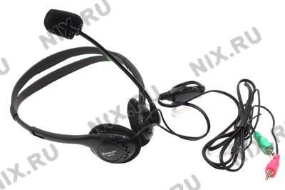 Наушники с микрофоном Defender HN-102(A) (с регулятором громкости,  шнур  1.8м)  <63102>