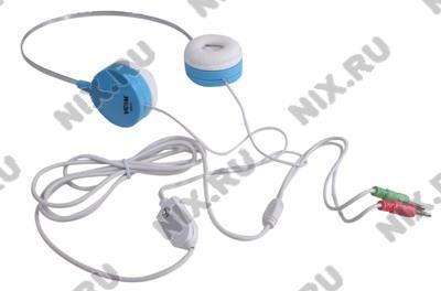 Наушники с микрофоном VCOM DE012 (шнур  2.2м,  с  регулятором громкости)