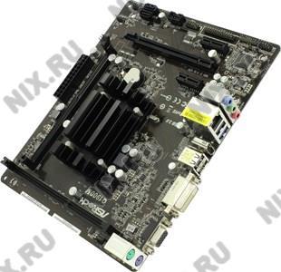 ASRock Q1900M (Celeron J1900 SoC onboard) (RTL) PCI-E Dsub+DVI+HDMI GbLAN SATA  MicroATX  2DDR3