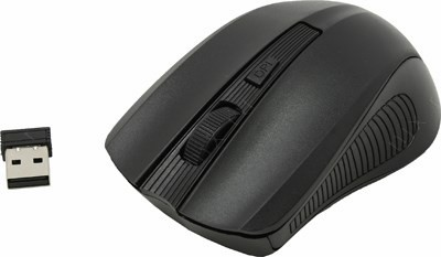 SVEN Wireless Optical Mouse <RX-300 Wireless Black> (RTL)  USB  3btn+Roll