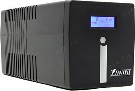 UPS 1000VA PowerMAN Smart Sine 1000, LCD, USB,  защита  телефонной  линии/RJ45