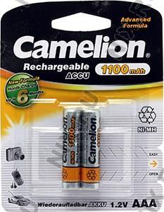 """Аккумулятор Camelion NH-AAA1100BP2 (1.2V, 1100mAh) NiMH, Size """"AAA""""  <уп.  2  шт>"""