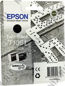 Картридж T1361 <C13T13614A10> Black для  EPS  K101/K201/K301