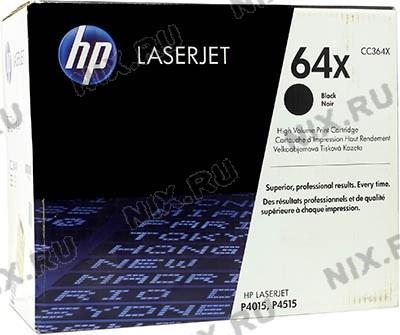 Картридж HP CC364X (№64X) Black для HP  LaserJet  P4015/4515 (повышенной ёмкости)