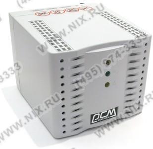 Стабилизатор PowerCom TCA-1200 Black (2.8 A,вх.192 ~ 253 В,вых. 220V±5%,  4  розетки  Euro)