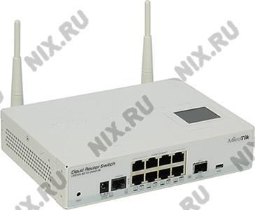MikroTik <CRS109-8G-1S-2HnD-IN> Cloud Switch CRS109  (8UTP  1000Mbps,802.11b/g/n,  1xUSB, 4dBi)